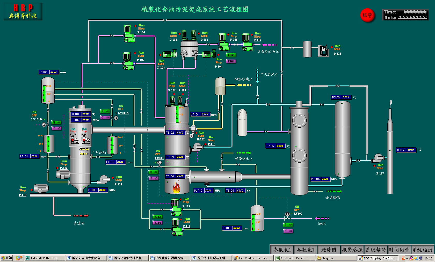 Hbp Scada System Integration For Oil Gas Storage And Transportation Tank Schematic Mechanical Cleaning Device Oily Sludge Treatment Incineration Alkali Liquor Blending